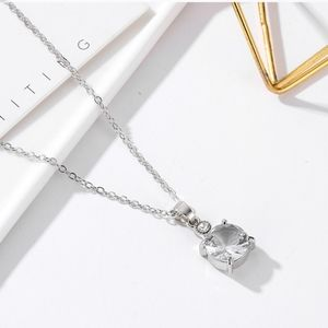 3/$20 New Silver Rhinestone Necklace